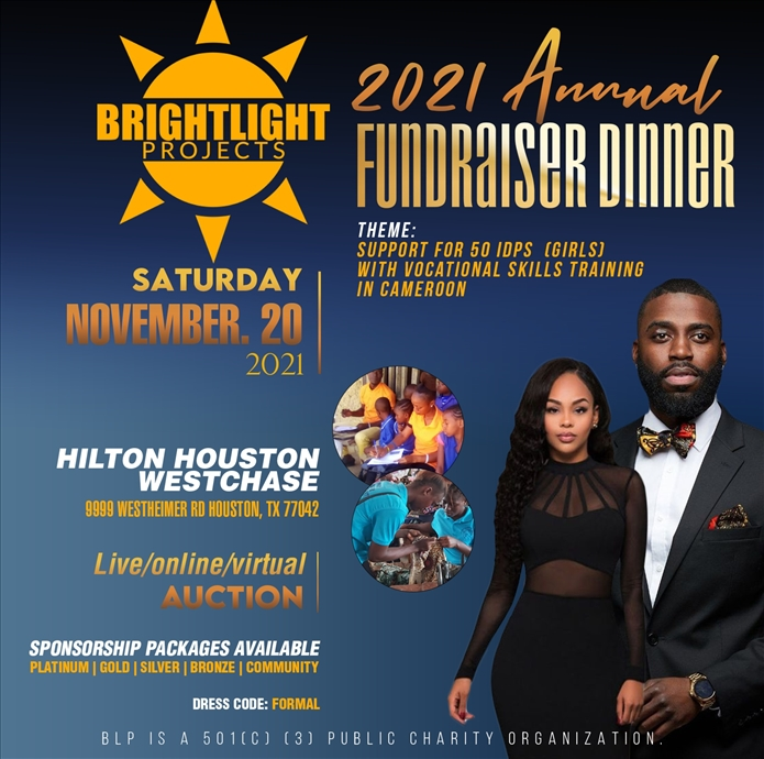Bright Light Projects 2021 Annual Fundraiser Dinner