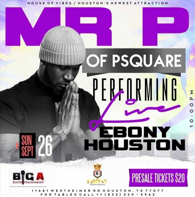 MR P of Psquare Live in Houston