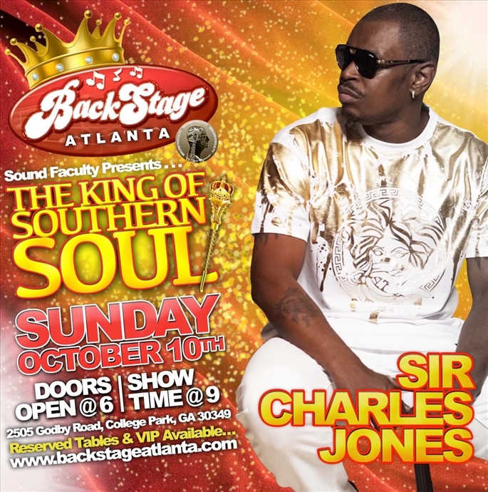 The King of Southern Soul Sir Charles Jones Live