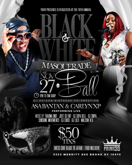10th Annual Black and White Masquerade Ball