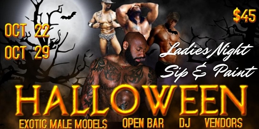 DMV-Sip & Paint with Exotic Male Models- Halloween Edition