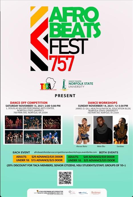 Afrobeats FEST 757: Dance Off Competition & Workshops!