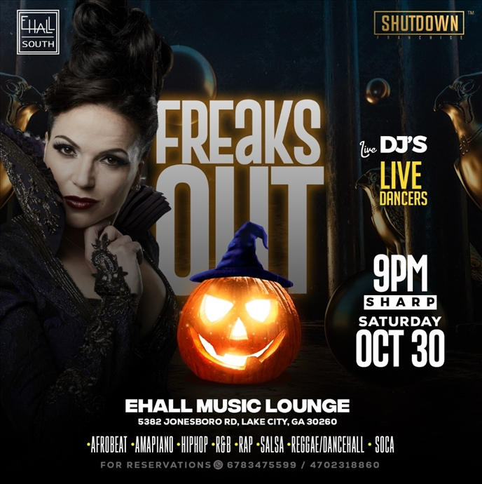 FREAKS OUT (INTERNATIONAL HALLOWEEN PARTY)